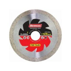 Διαμαντόδισκος Πλακιδίων Benman Φ125 X 1,8 X 10mm