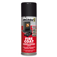 Minos Fire Coat Spray χρώμα υψηλής θερμοκρασίας 650°C (Δοχείο 400ml)