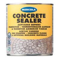 Mercola Concrete sealer ακρυλικό διαφανές βερνίκι διαλύτου σταμπωτών δαπέδων