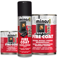 Minos Fire Coat χρώμα υψηλής θερμοκρασίας 650°C