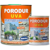 Mercola Porodur UVA ακρυλικό διαφανές βερνίκι διαλύτου