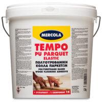 Mercola Tempo Parquet PU 1Κ Elastic Κόλλα πατωμάτων πολυουρεθανική (Δοχείο 12kg)